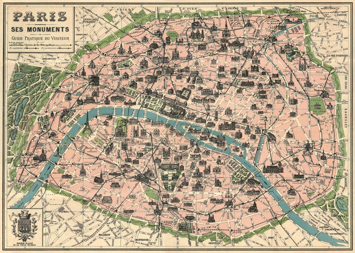 Paris Map Wrap