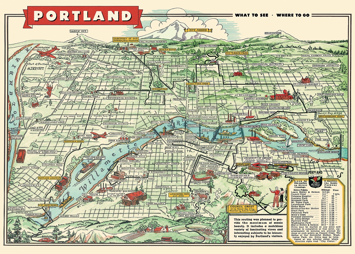 Portland Map Wrap