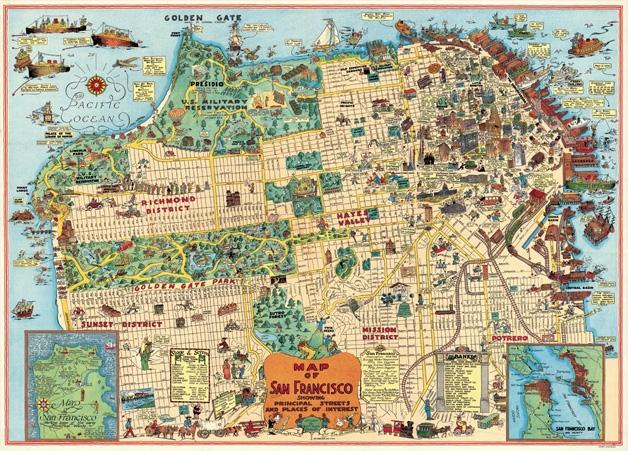 San Francisco Map 2 Wrap