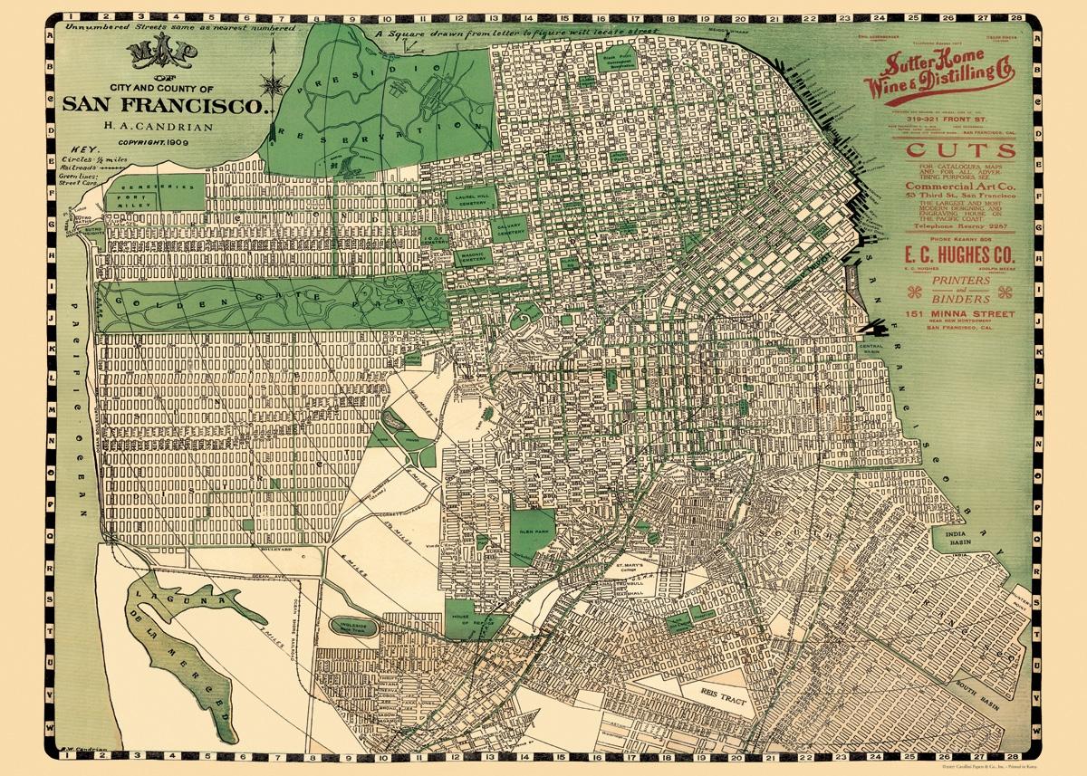 San Francisco Map Wrap