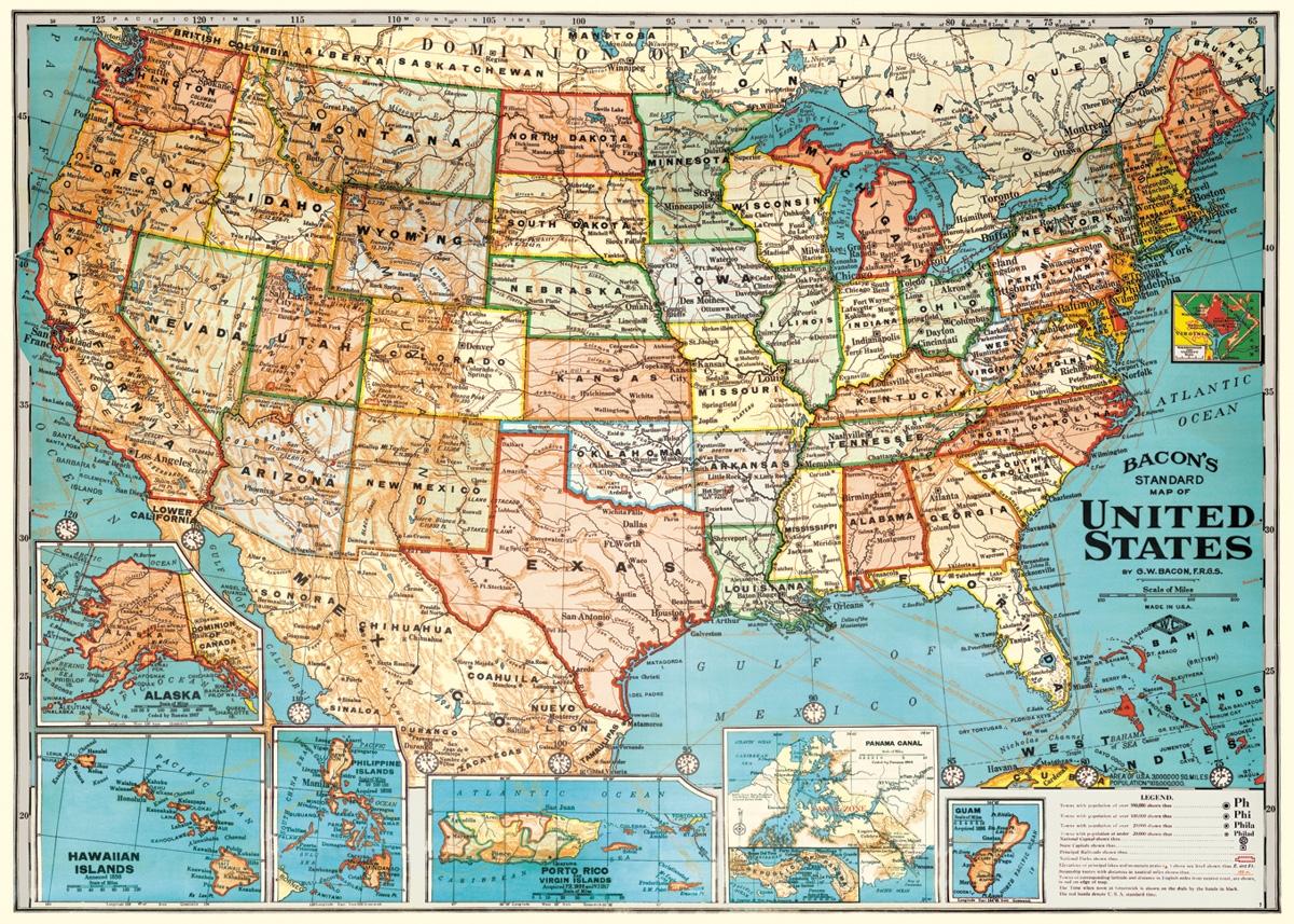 Usa Map Wrap