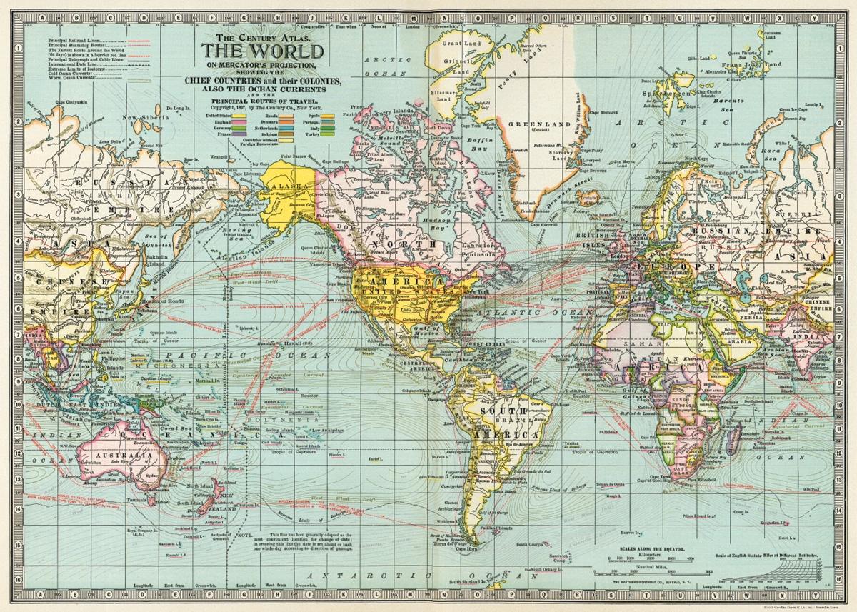 World Map 3 Wrap