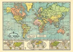 World Map 6 Wrap