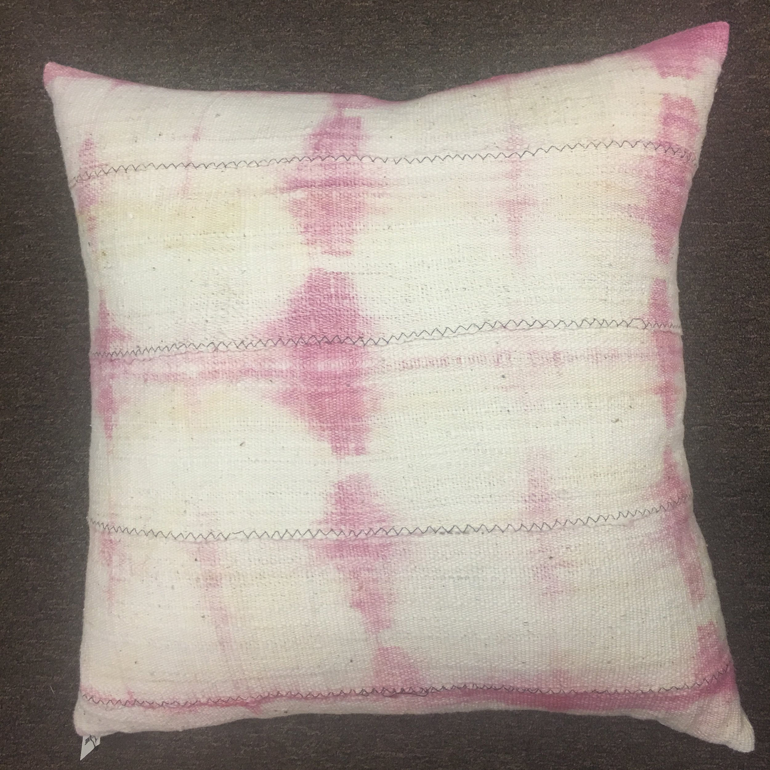 Pink Mudcloth Pillow $175