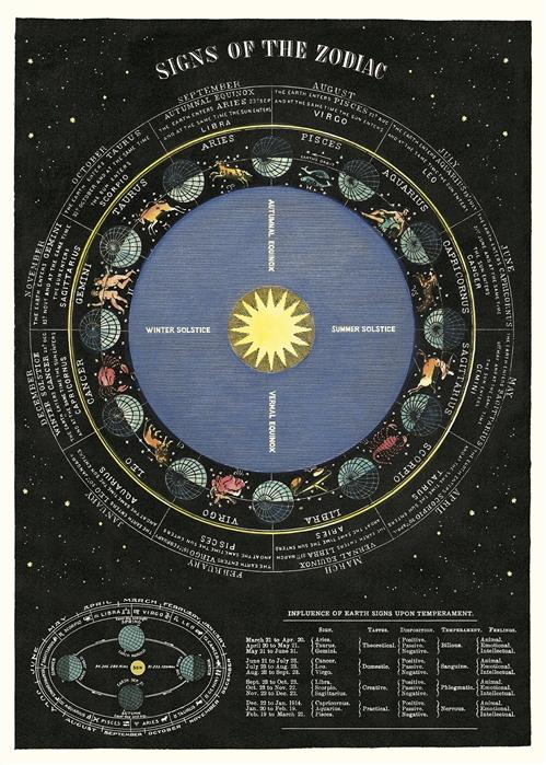 Zodiac Chart Wrap