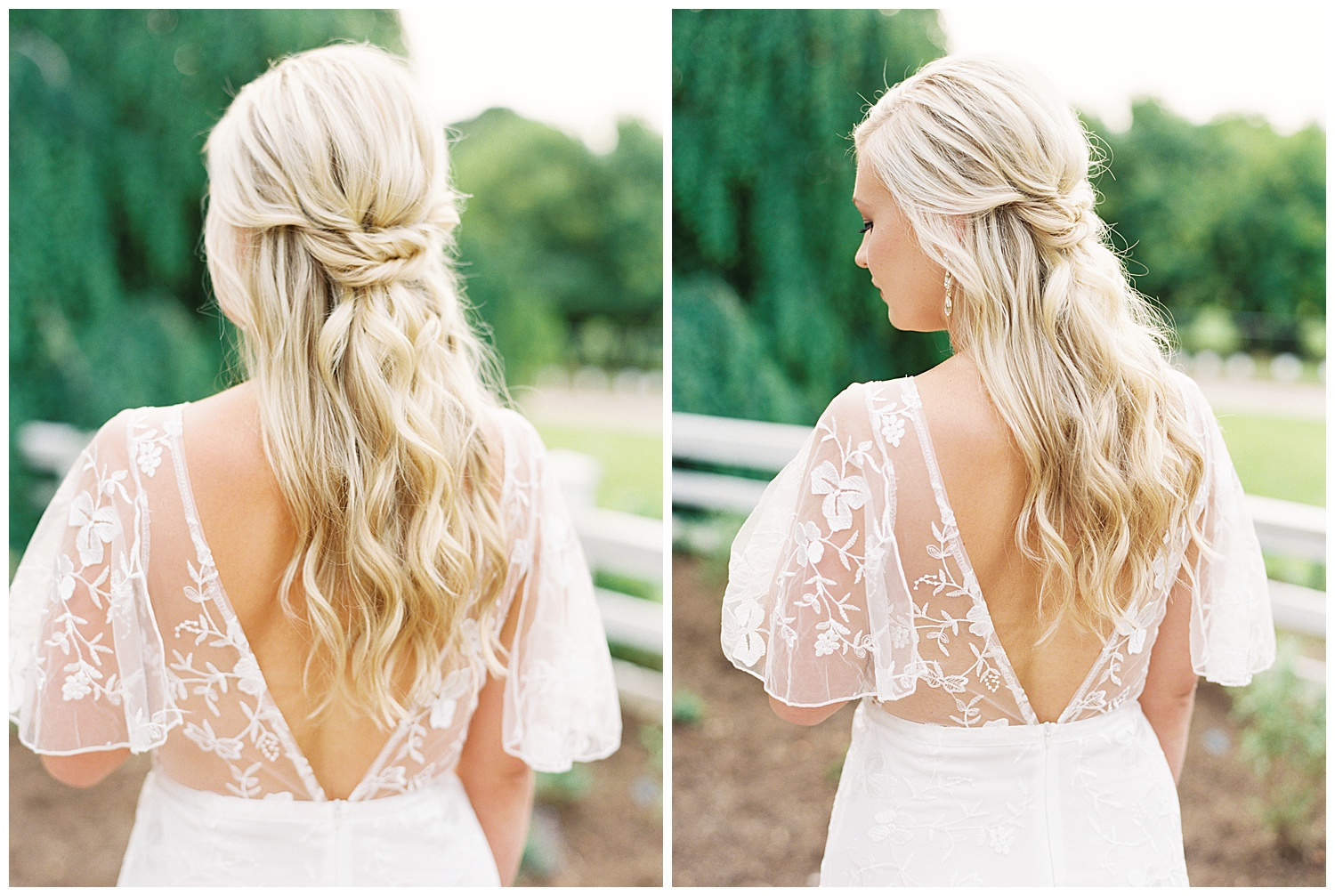 Of course, as always, Maddie Wofford of  Hair by Maddie Woff , absolutely blew me away with this light, yet elegant half up, half down look! It framed Morgan's face just perfectly, and really encompassed the entire feel of the engagement session we were going for!