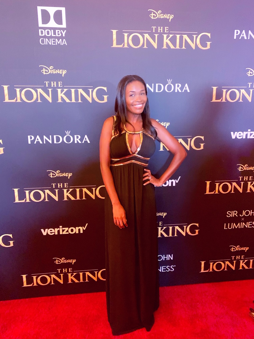 Rhonda at The Lion King Red Carpet.JPG
