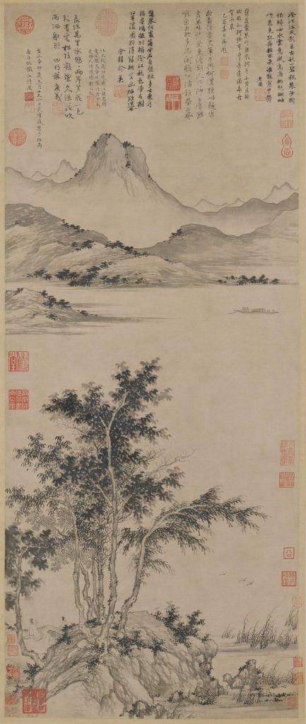 Awaiting the Ferry at an Autumn Riverbank, Sheng Mao, Yuan Dynasty