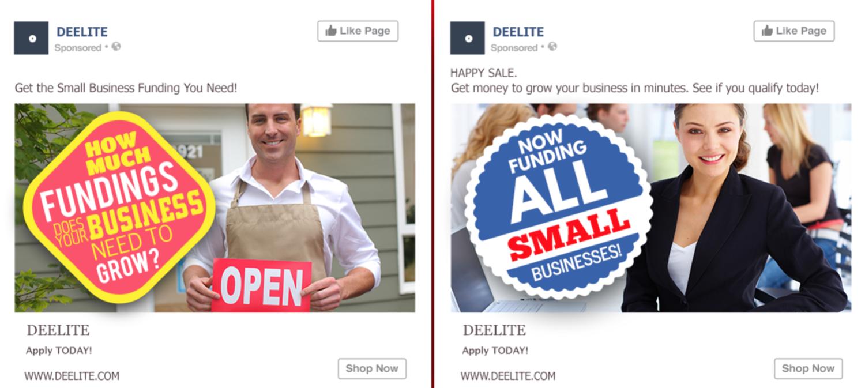 bad facebook ad split test