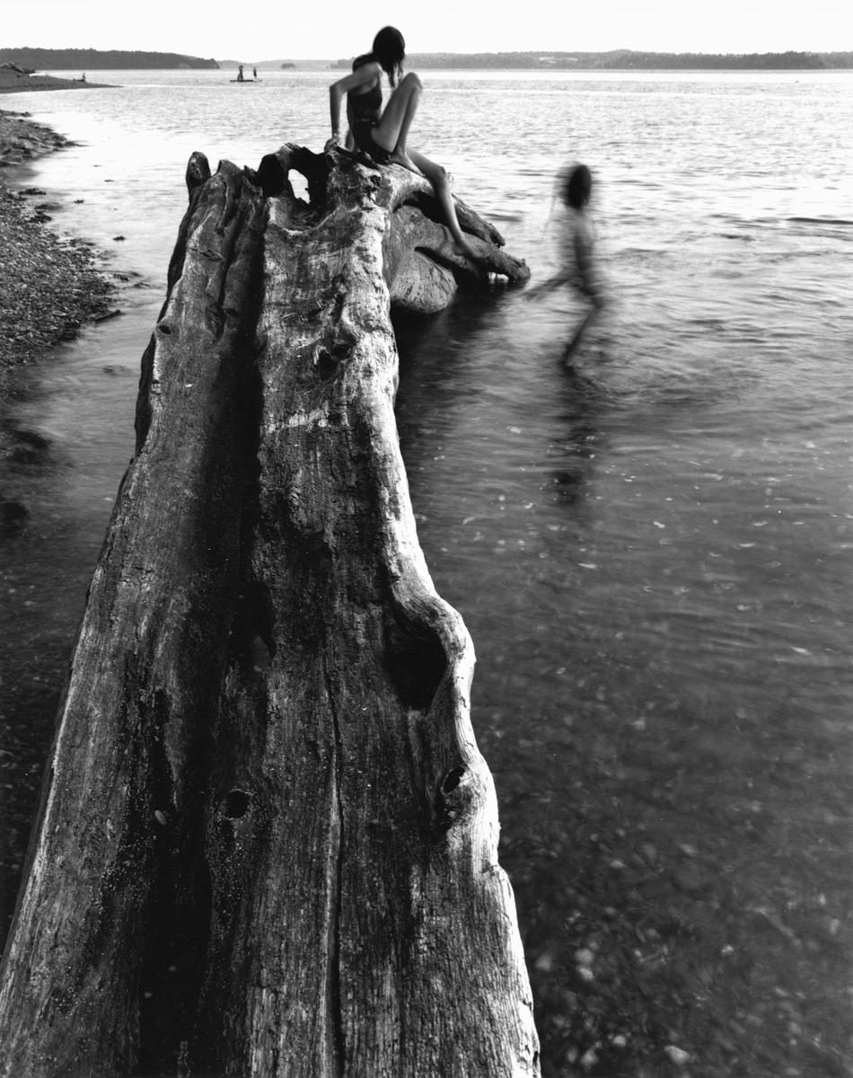 Girls Evening Play At The Beach, Fox Island