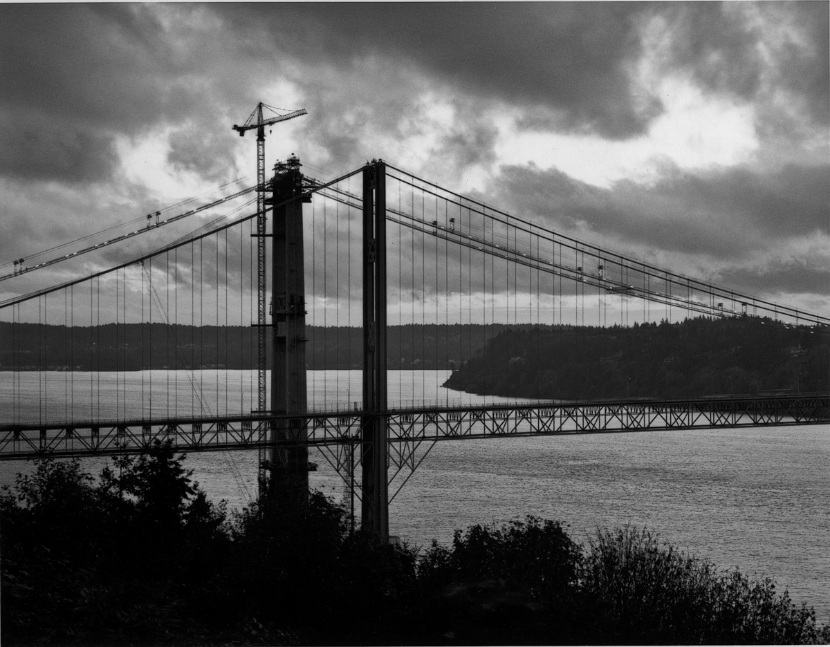 Crane On the East Tower of the New Tacoma Narrows Bridge, 2006