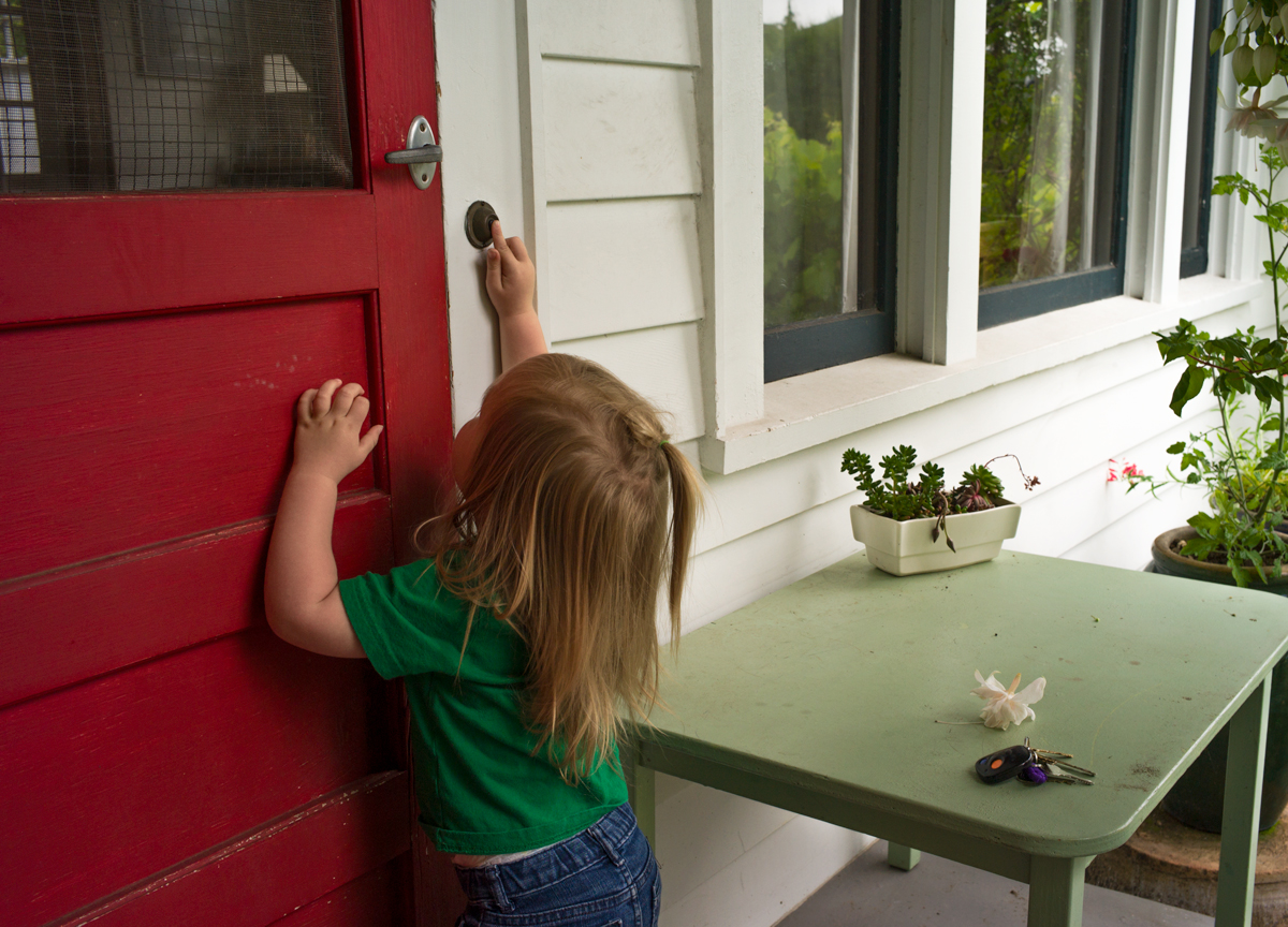Ramona - Toddler At The Door, 2018