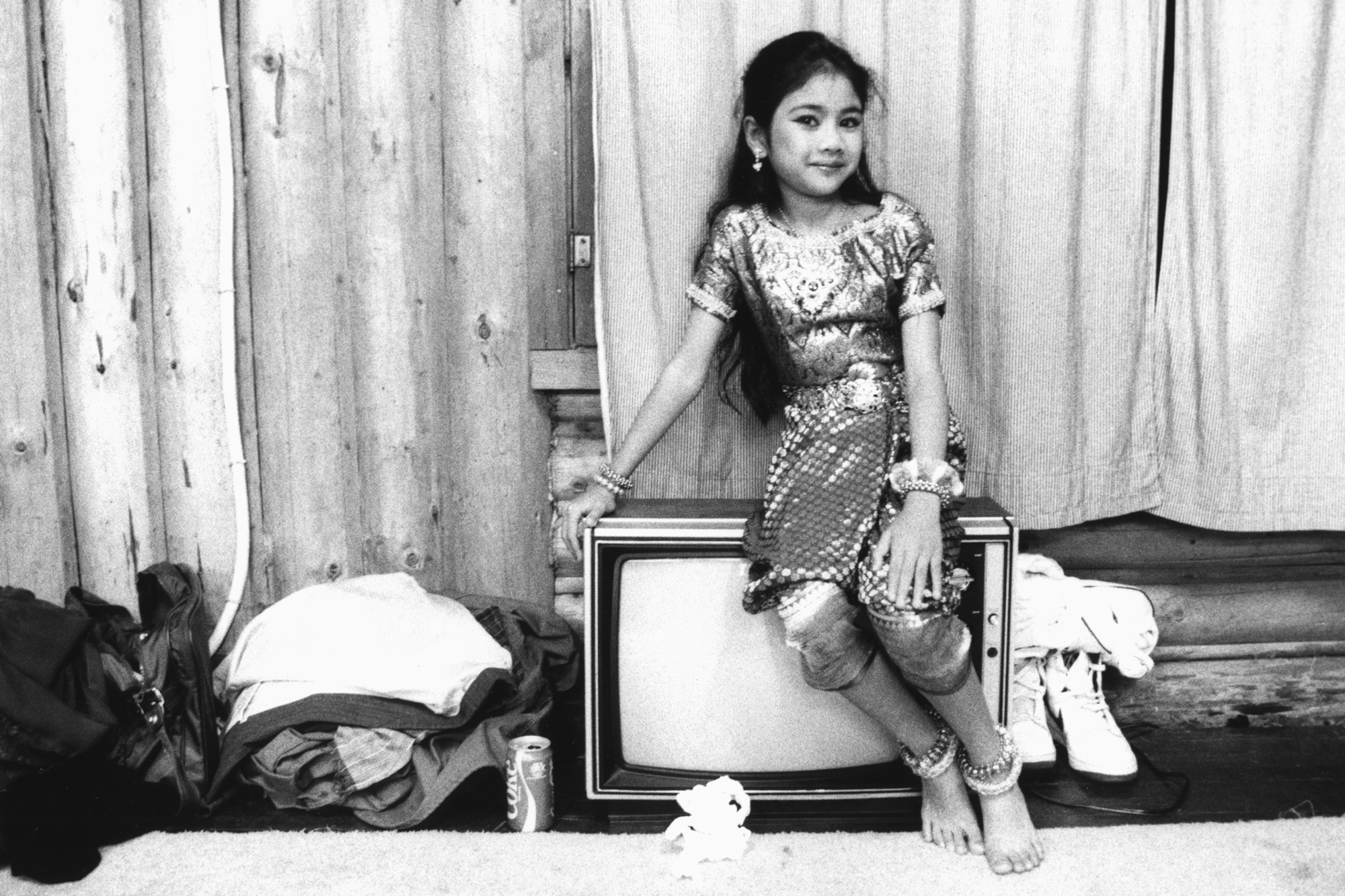 Cambodian Dancer On A TV Backstage, 1990