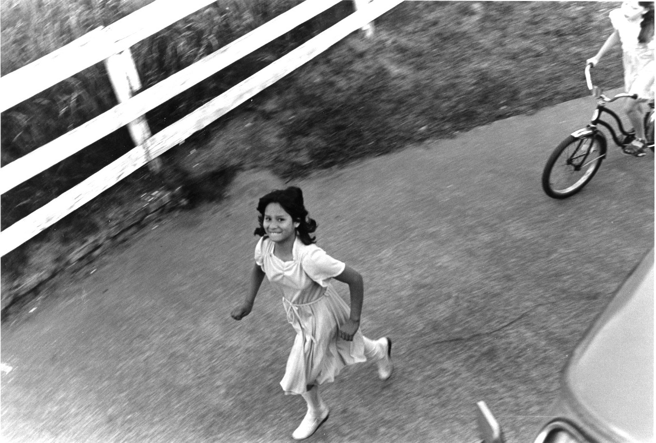 She's Running In Her Sunday Best, 1982 Seattle (Vintage Silver),  Today's Coolphoto 09/27/2019 Vintage Silver:: Edition One Only :: Size 11x9 :: Signed :: $625.©2019 Christopher Petrich