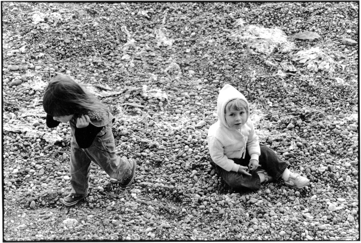 On The Beach Two Cousins, 1983, Fox Island (Vintage Silver), Today's Coolphoto 10/5/2019 Vintage Silver:: Edition Two Only :: Size 10x8 :: Signed :: $625. ©2019 Christopher Petrich