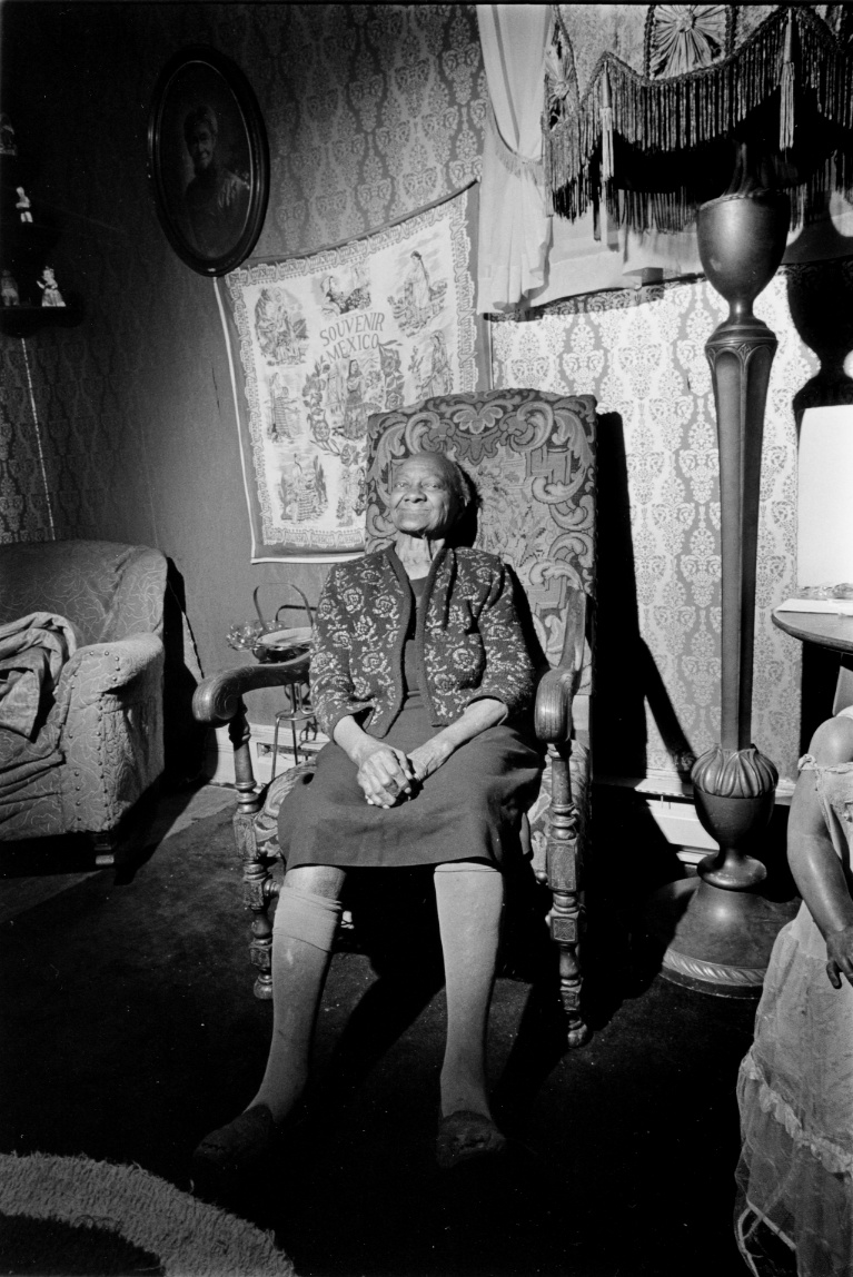 Ella Carter At 100 In Her Living Room, Tacoma's Hawthorne District, 1977 (Modern Silver),  Today's Coolphoto 10/11/2019 Modern Silver:: Part of a Series of 6 images, Edition One Only :: Size 8x10 :: Signed :: $1250 ©2019 Christopher Petrich