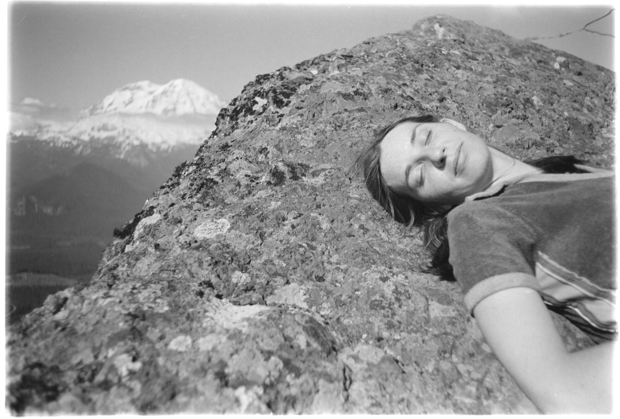 Elizabeth At High Rock, Gifford Pinchot National Forest, 1980 (Modern Silver), Today's Coolphoto 10/17/2019 Modern Silver:: Edition Two Only :: Size 10x8 :: Signed :: $250. ©2019 Christopher Petrich