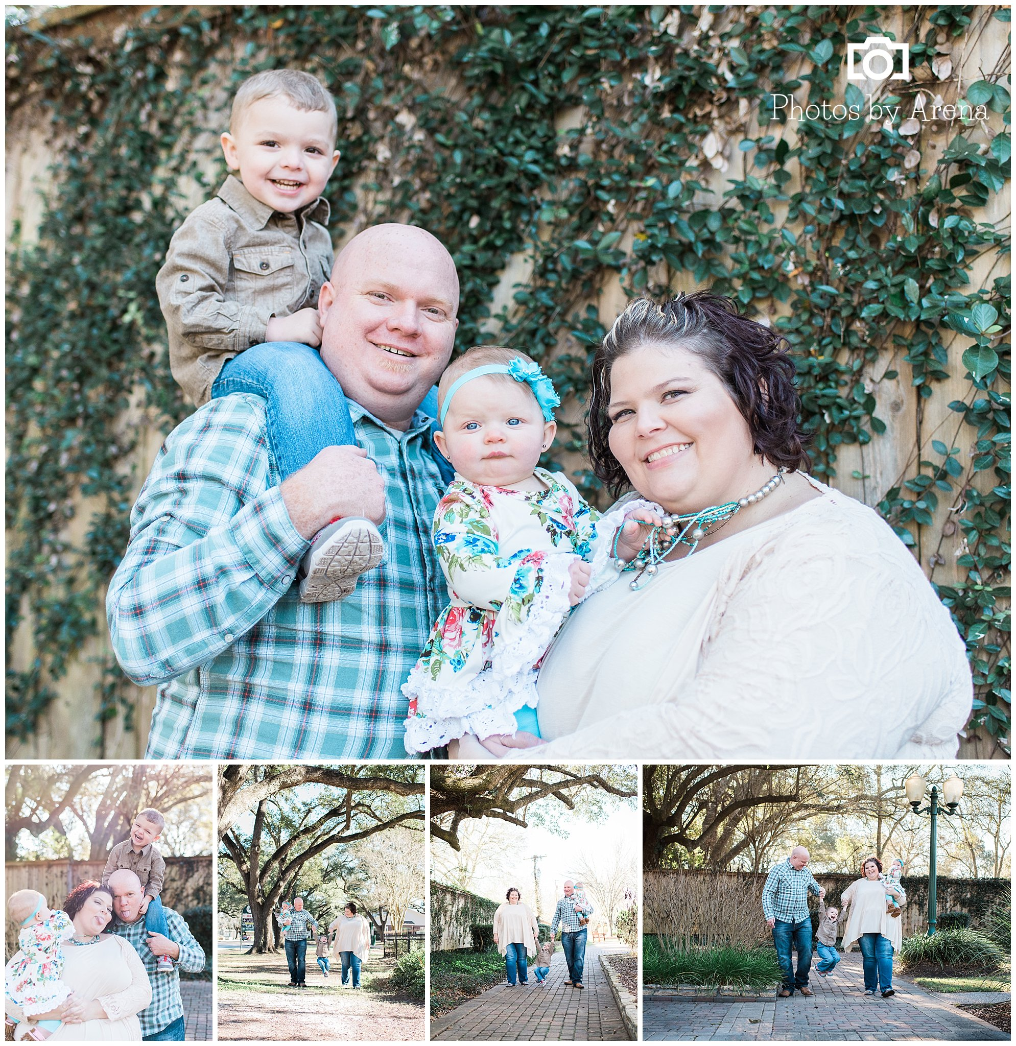We were able to get in some family shots too.  Marcus had a blast swinging from Mom and Dad!