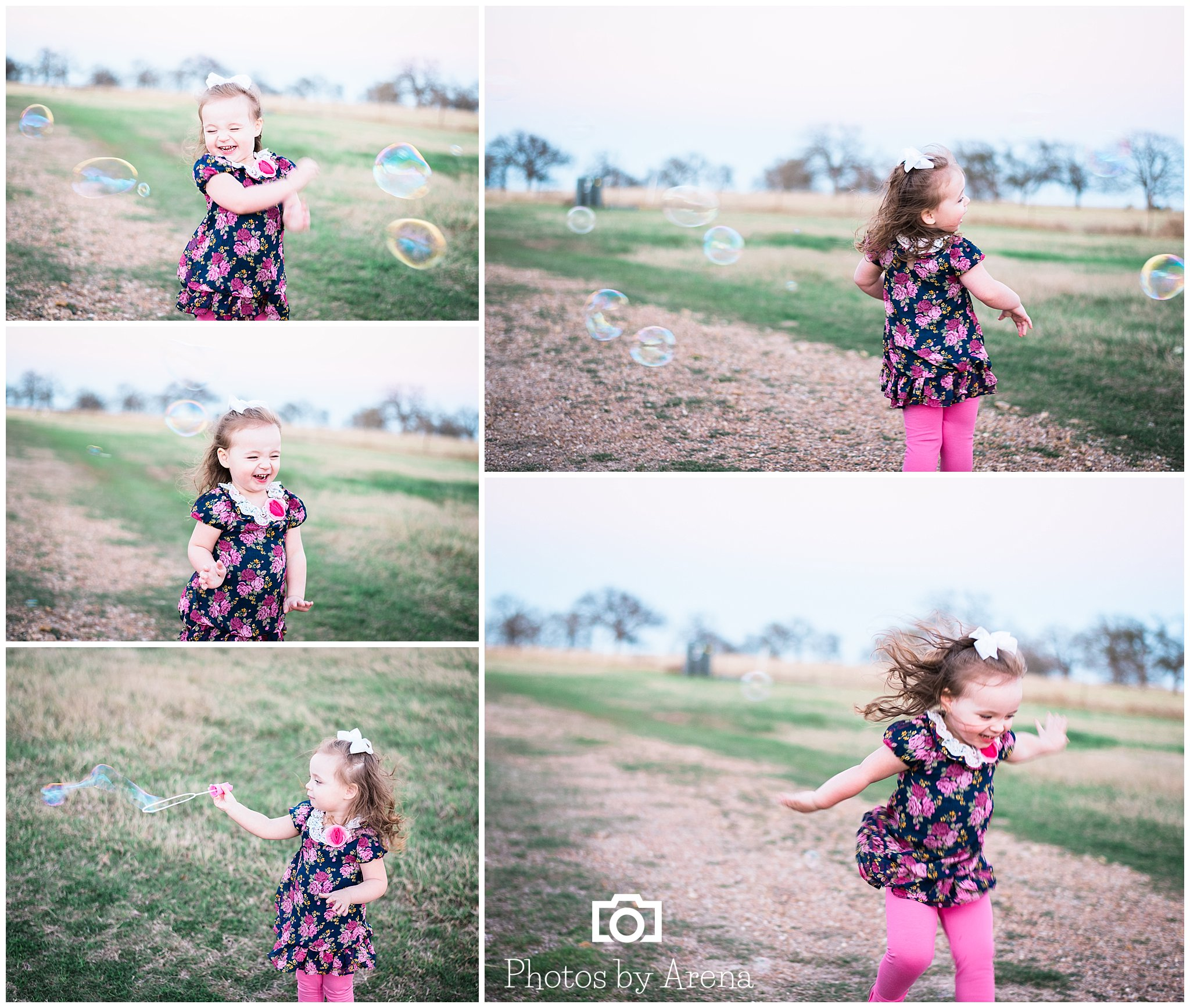 """As promised, """"Mena"""" delivered on the bubble time. Camryn LOVES bubbles and I love watching the pure joy when she's playing with them!"""