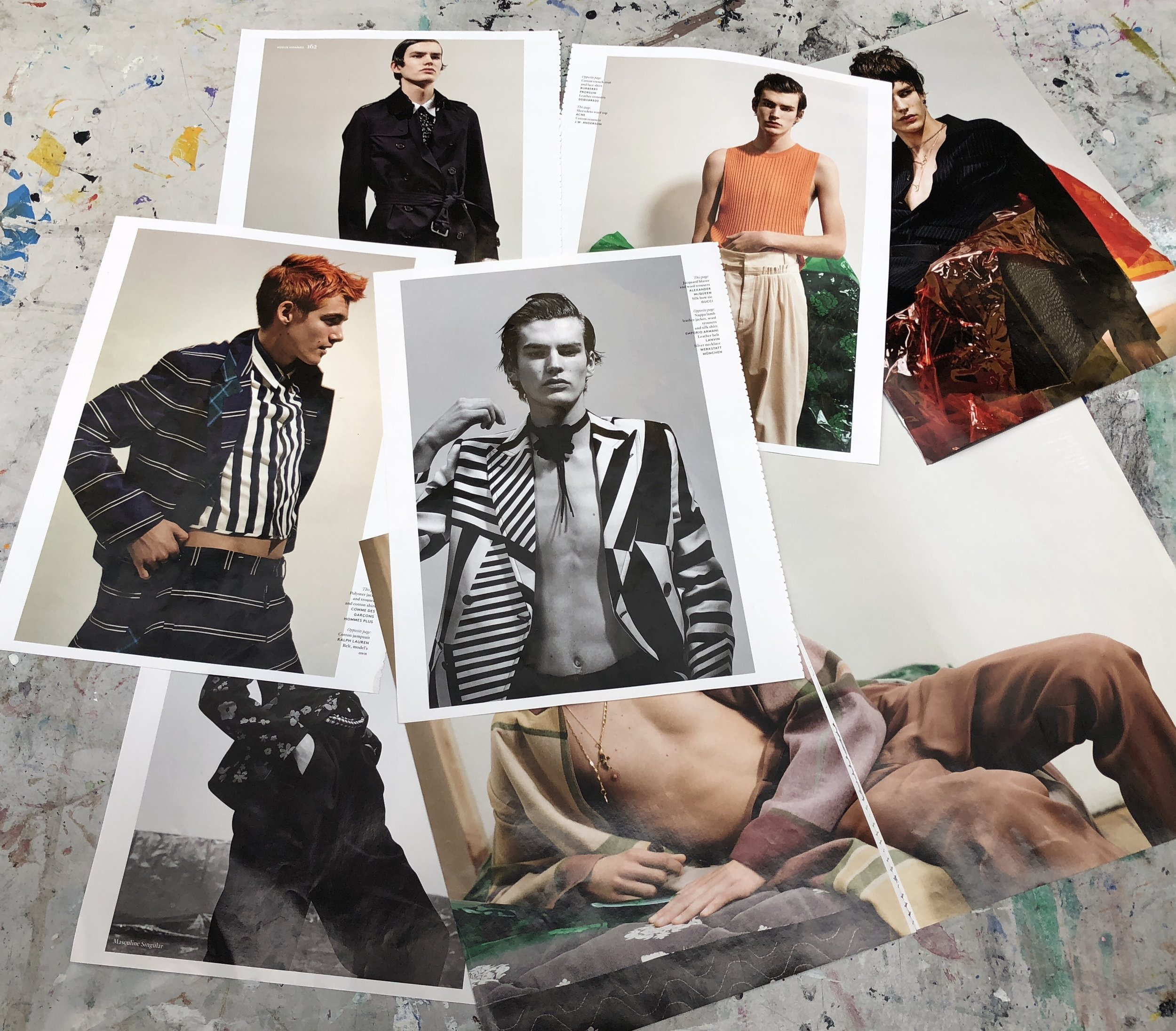 Central Saint Martins UAL Art Direction for Fashion:    SS 18' Menswear Photography critique.    April       18'