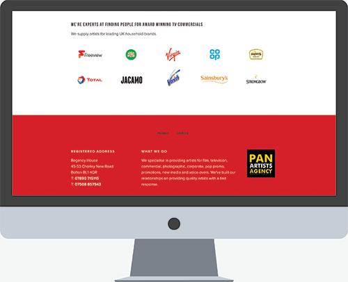 Pan Artists website developer