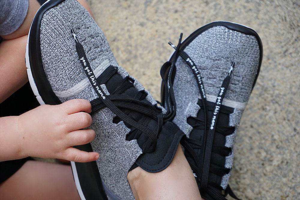 Mantra Laces  because who wouldn't enjoy a little extra motivation when they lace up for a workout
