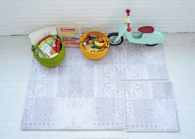 Little Nomad play mats are a safe & stylish alternative for home workout spaces that you won't need to hide from guests