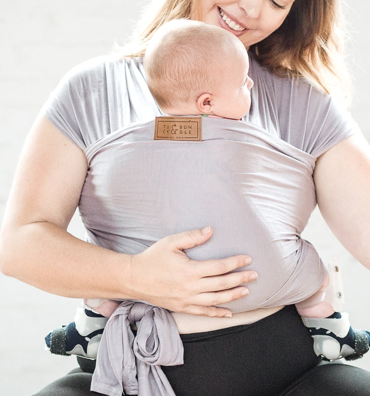 Tuck and Bundle  wrap is as soft as it looks & offers unisex styles encouraging everyone to share in carrying