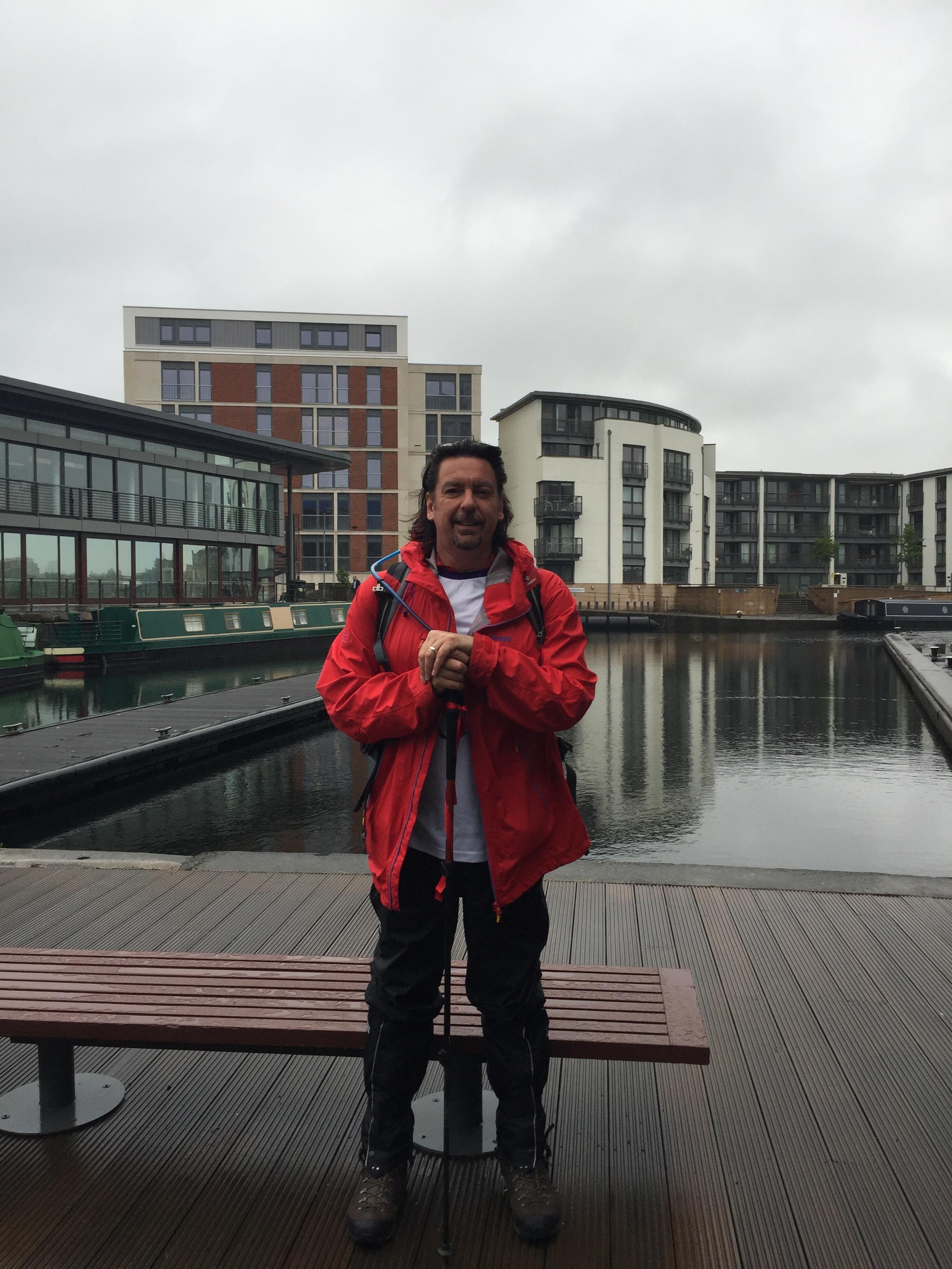 First day: setting off on Canal Trek, Lochrin Basin, Edinburgh