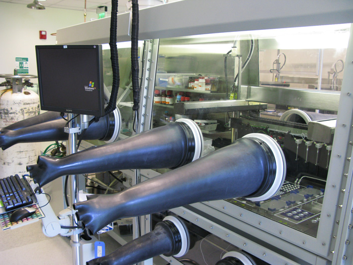 Our lab is adjacent to the Caltech Center for Catalysis and Chemical Synthesis, which features two Symyx Core Modules used by the department for high throughput reaction condition screening