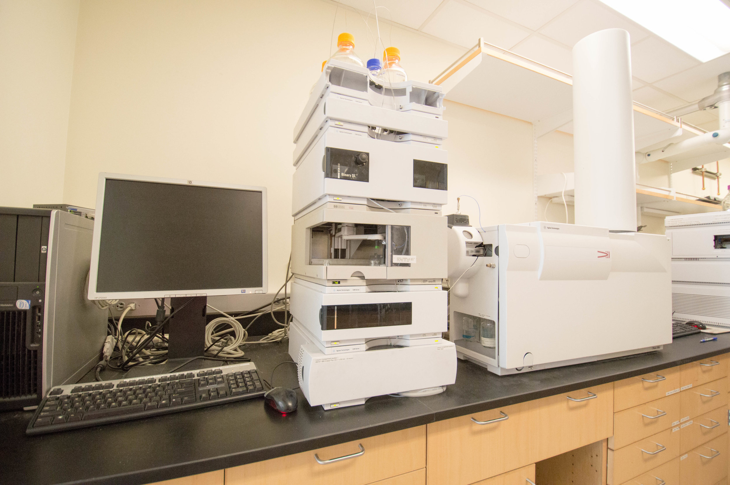 Our LC-MS (TOF), capable of obtaining high resolution mass spectra.