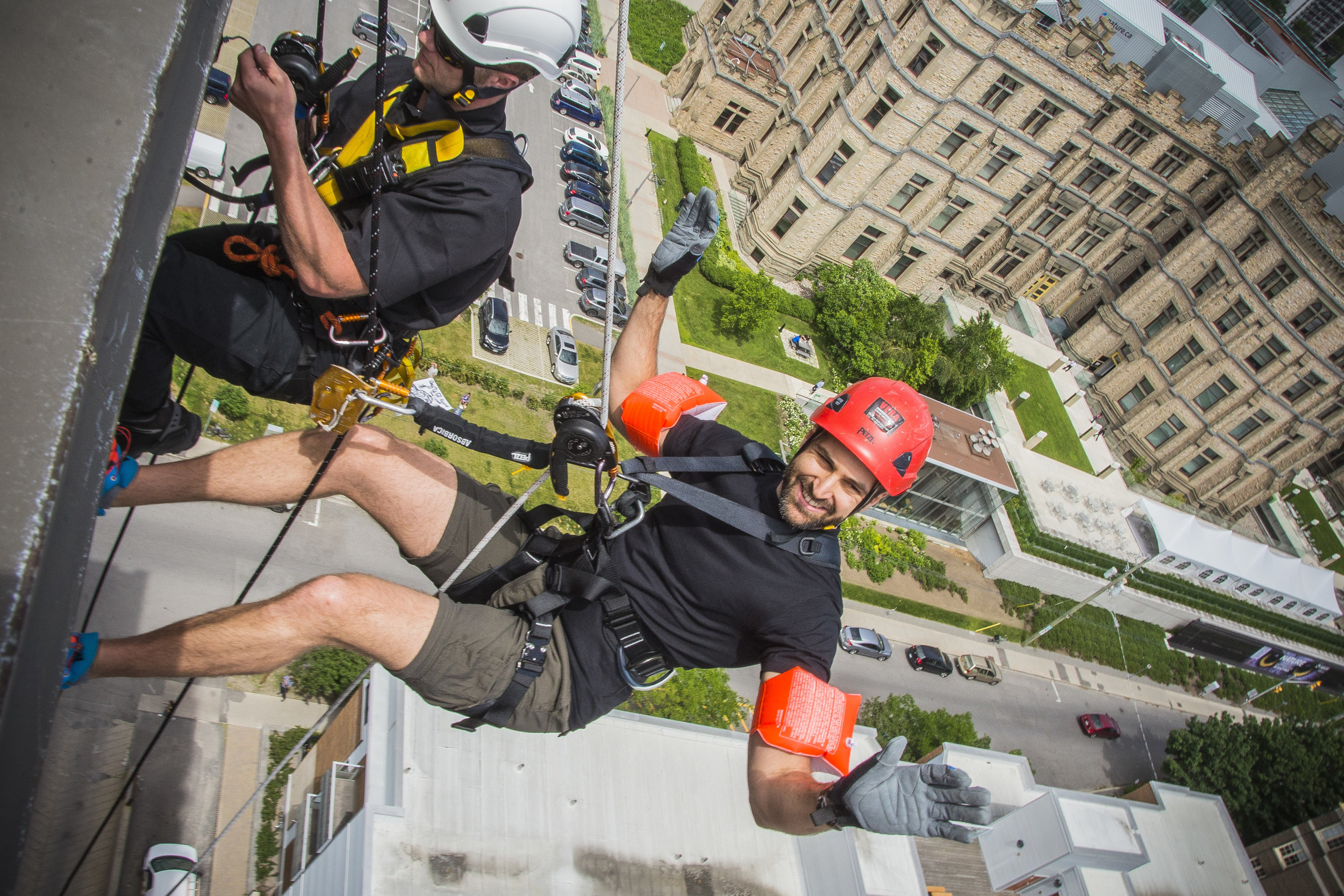 Y Story: André Goldenberg and the YMCA-YWCA Cliffhanger - Find out why André Goldenberg decided to face his fear of heights and join the Y's Cliffhanger event - rappelling 16 stories to help send kids to camp.