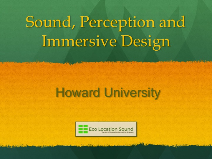 Click Here for:  Howard University Power Point