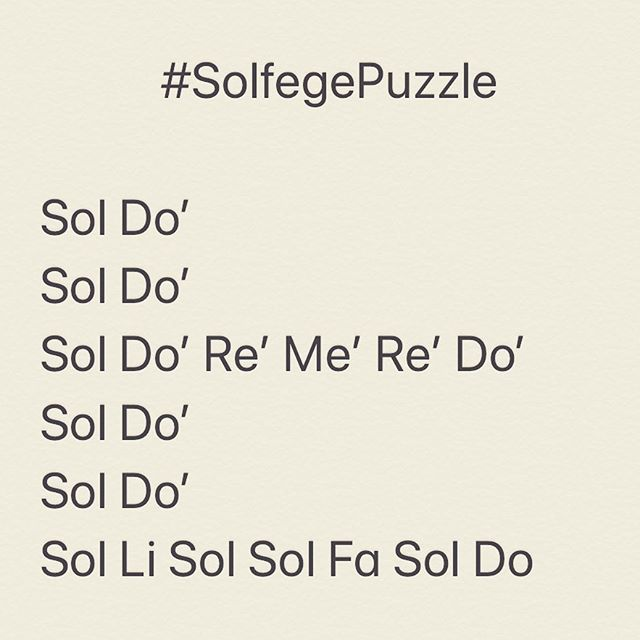 Can you solve the melody of this #SolfegePuzzle (commas indicate notes within the octave below ~ apostrophes within the octave above) #MusicTheory