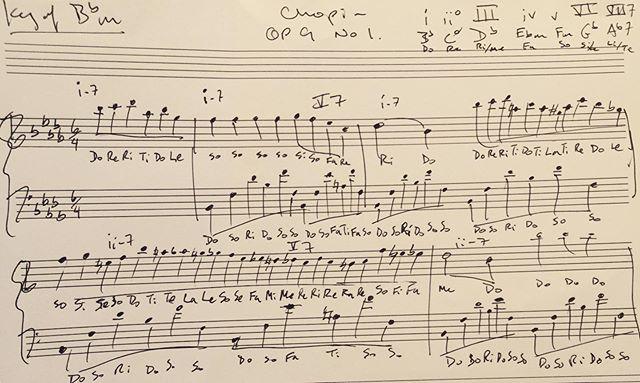 #Chopin Op 9 No1 solfege & tonal harmony analysis #JazzTheory