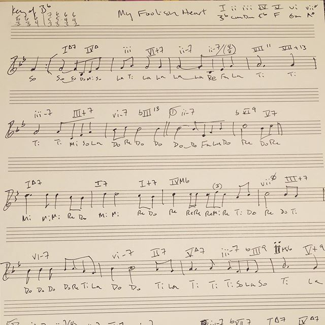 My Foolish Heart (V. Young) #JazzAnalysis & #Solfege ... an alternative to the morning crossword or #Sudoku