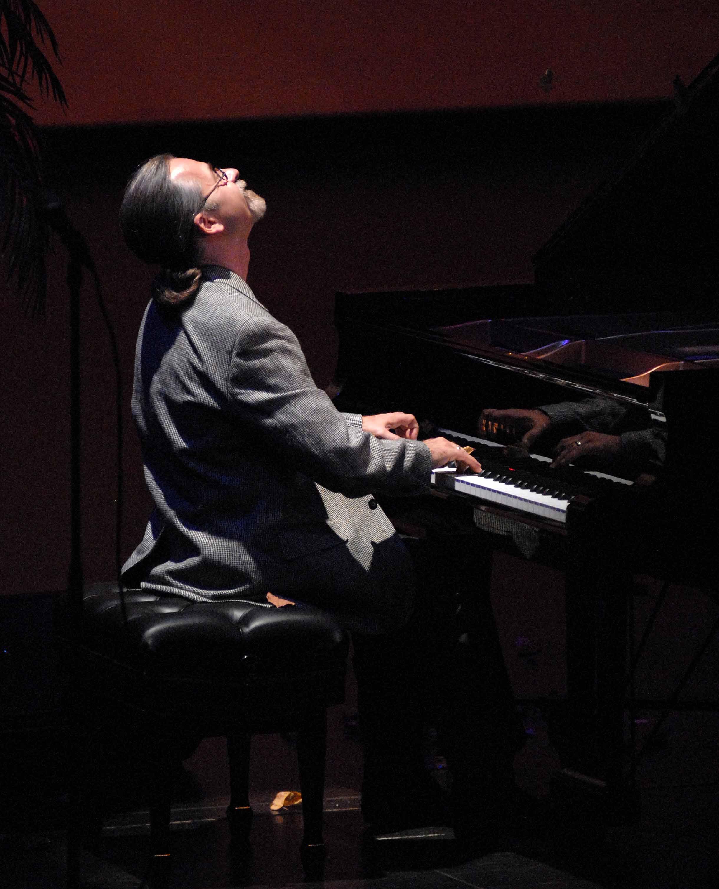 Ecstatic jazz pianist