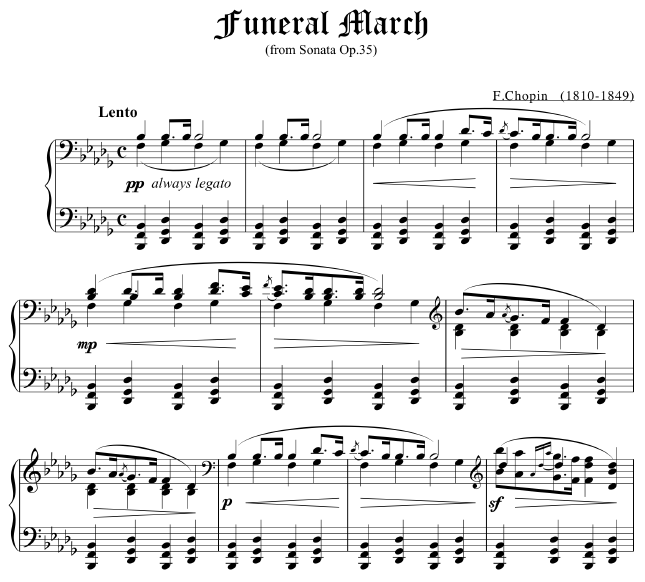 Everyone recognizes this creepy funeral march. Eight measures is all you need to do the trick (or treat).