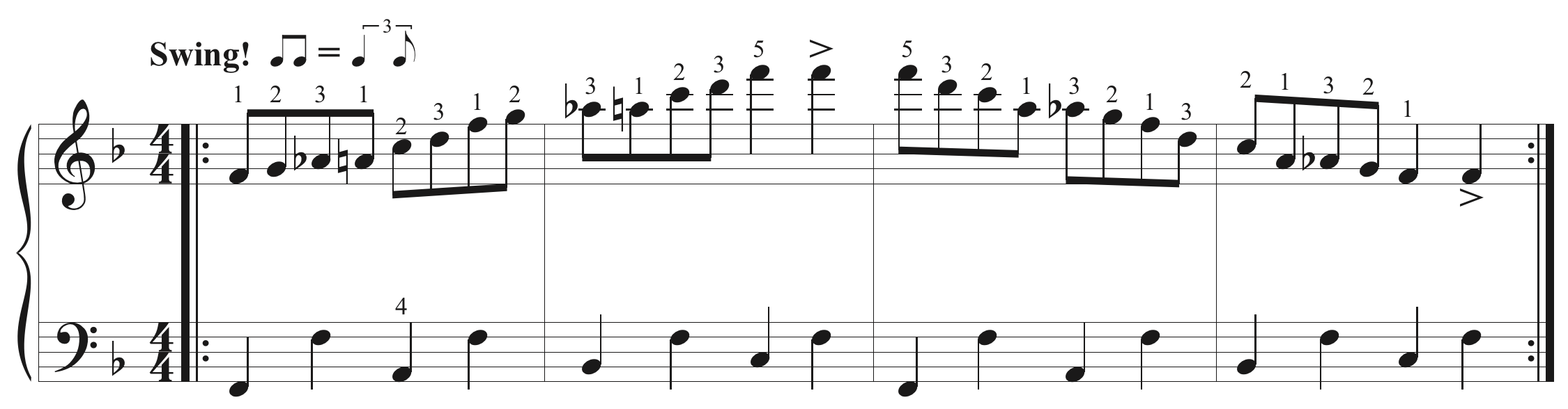 One of several blues scale workouts.