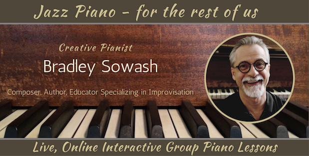 Study jazz piano in live online group classes with Bradley Sowash.