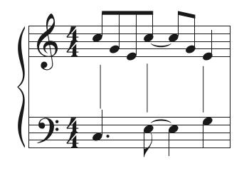 Syncopated rhythm.
