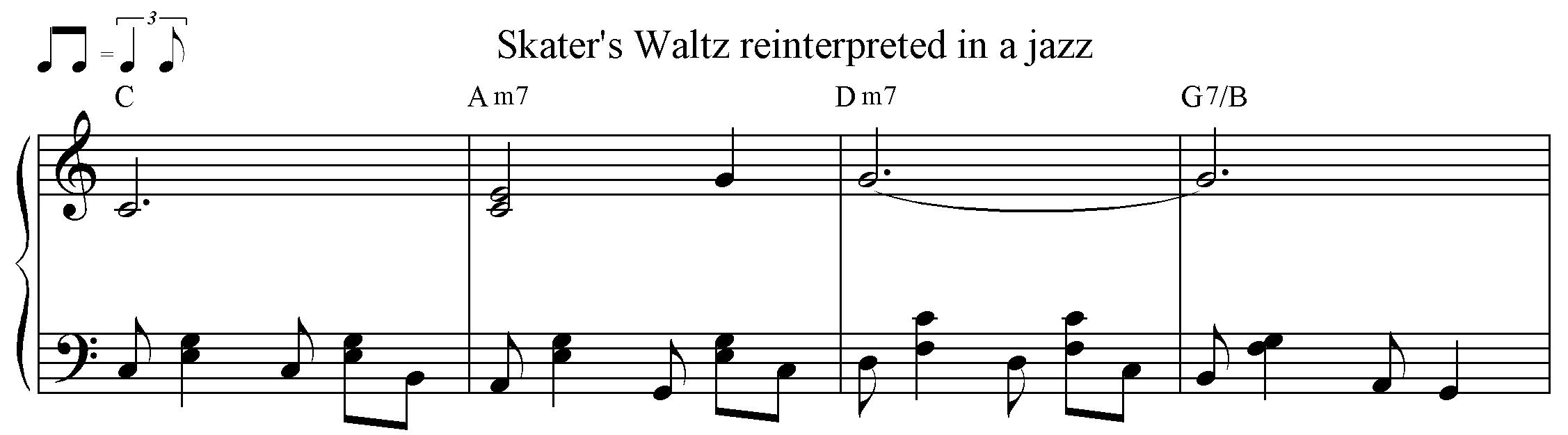 Jazzed up Skater's Waltz