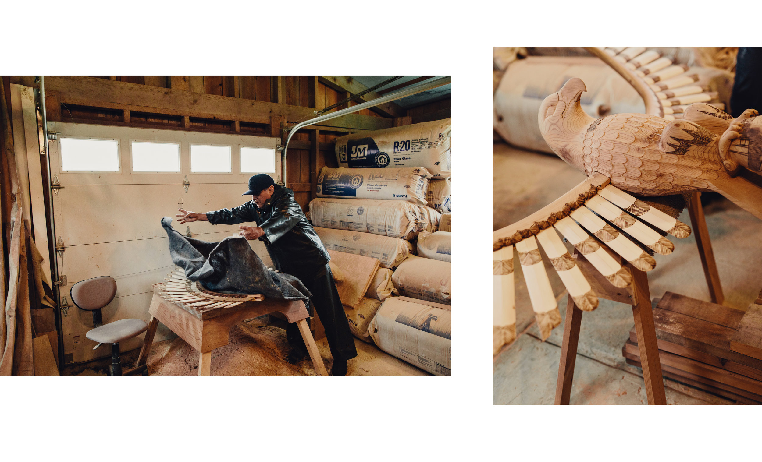 George Johnson, Totem Artist, Central Coast, BC