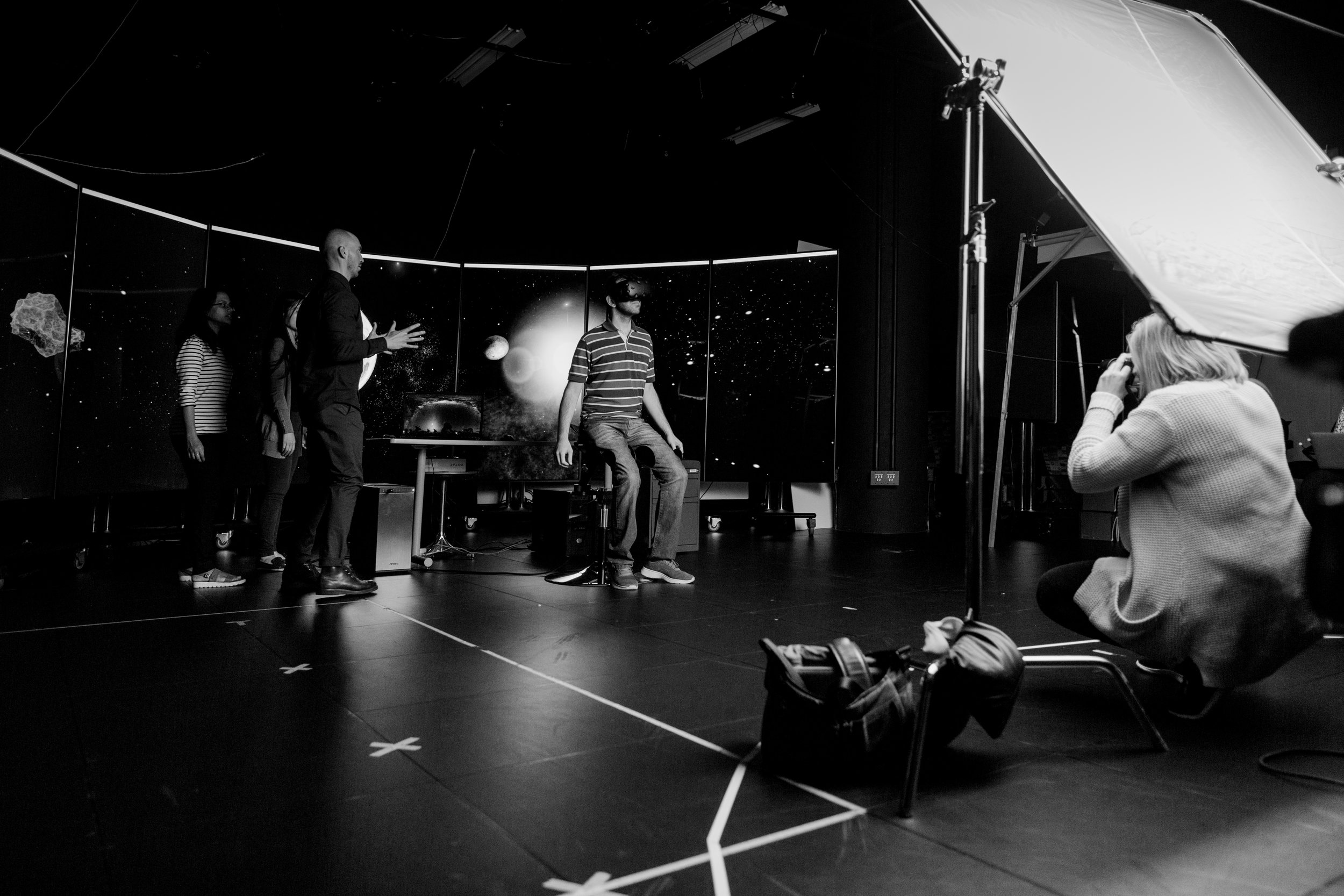 Tim directing and me shooting. Photo: Alexa Mazzarello