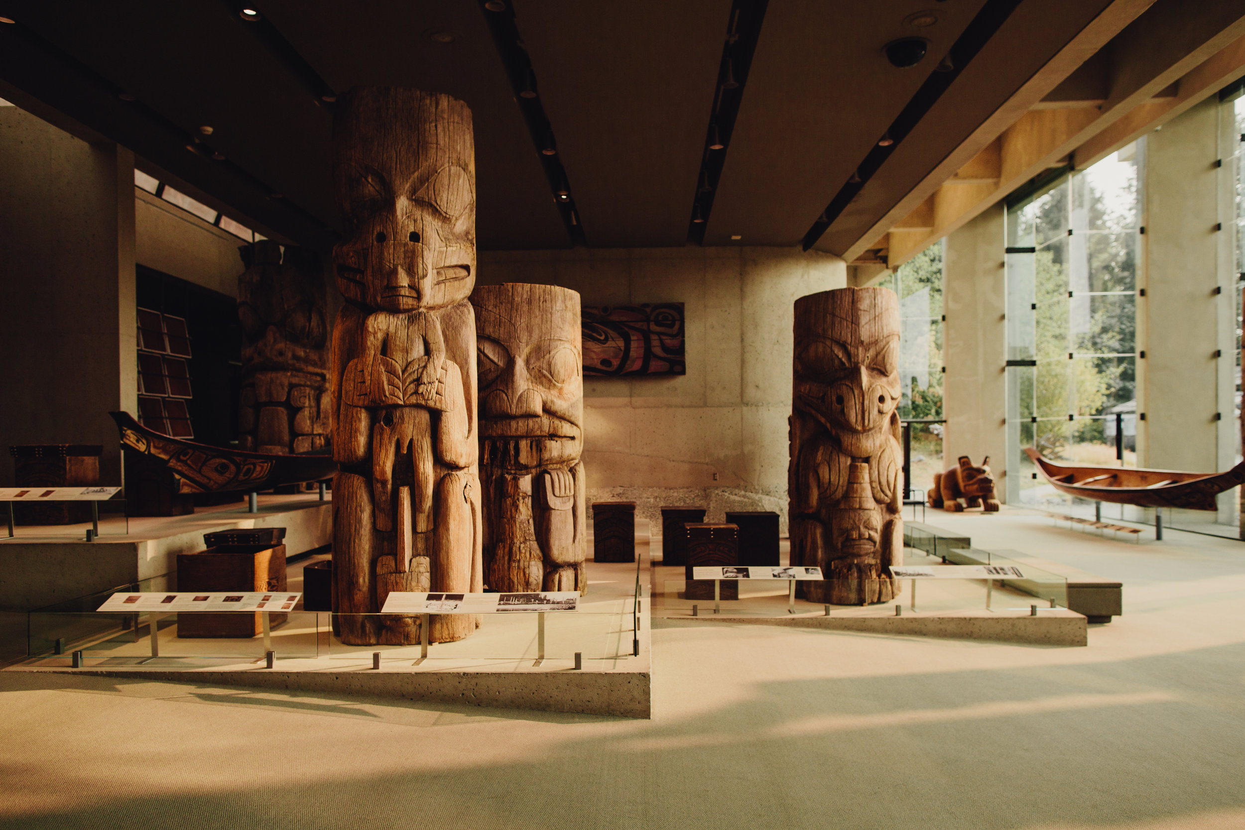 Haida Poles at the Museum of Anthropology in Vancouver BC