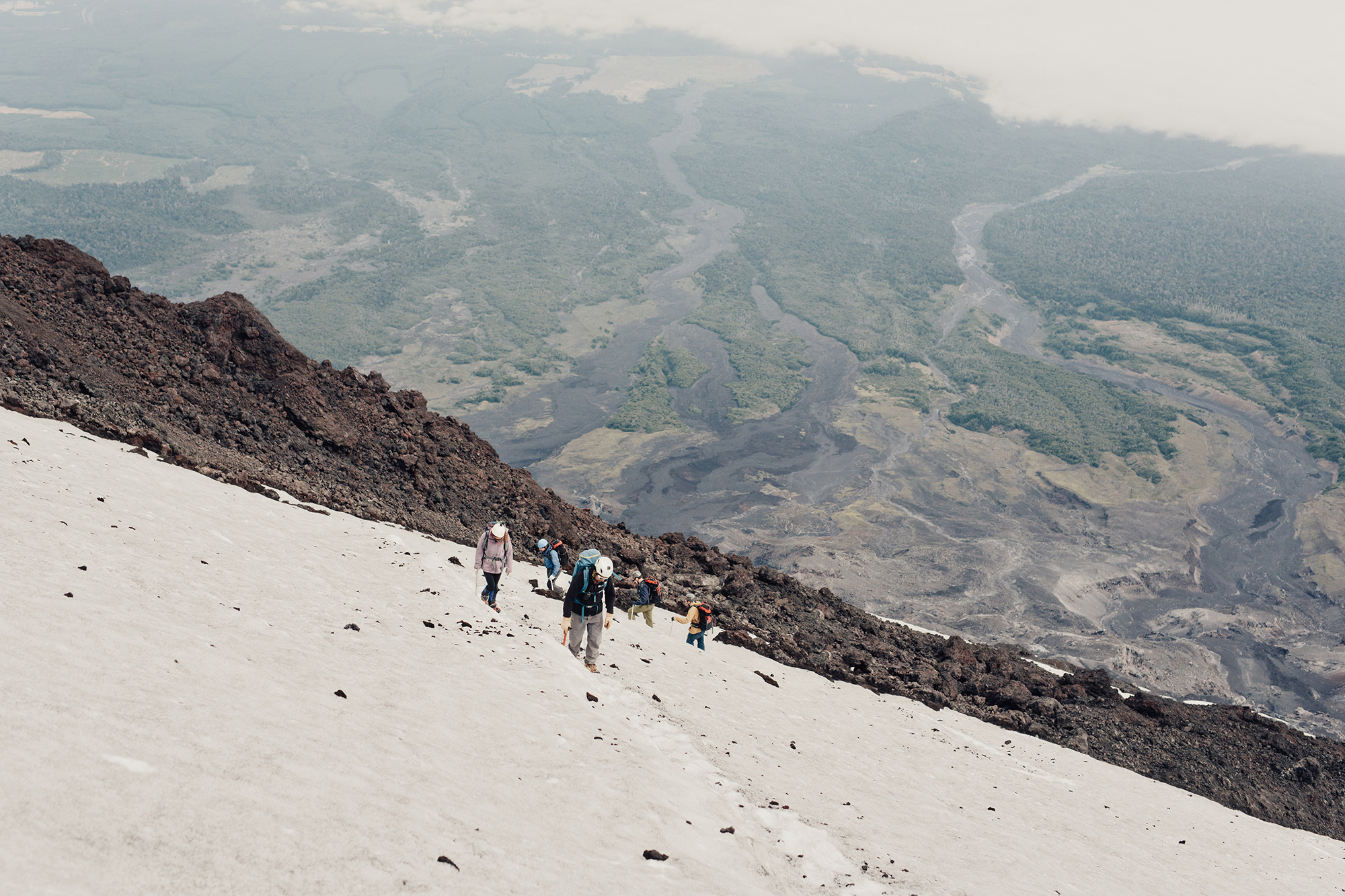 Villarrica Volcano in Pucón Chile for Athleta