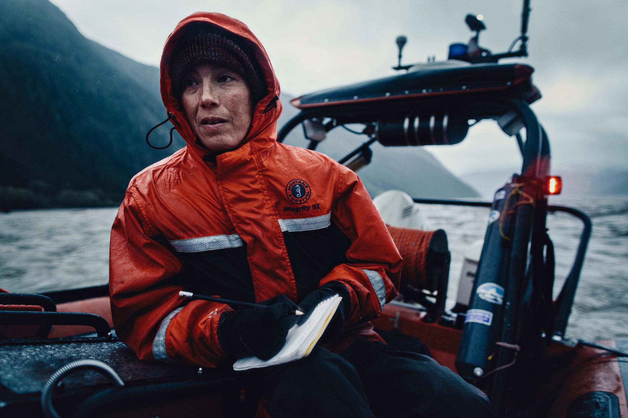 Scientist Amy Tabata in the Broughton Archipelago