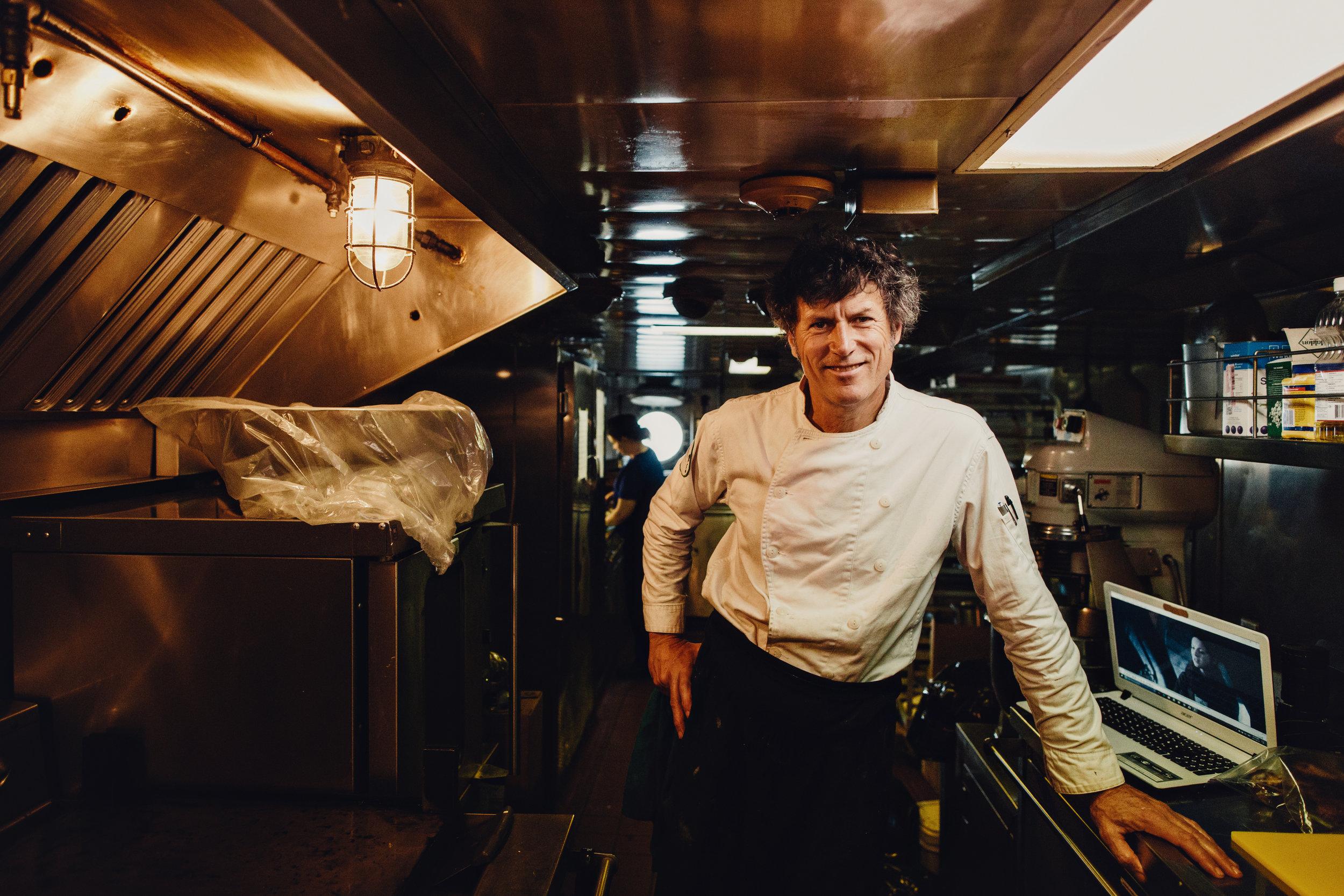 Chef Jamie Kennedy in the C3's Kitchen
