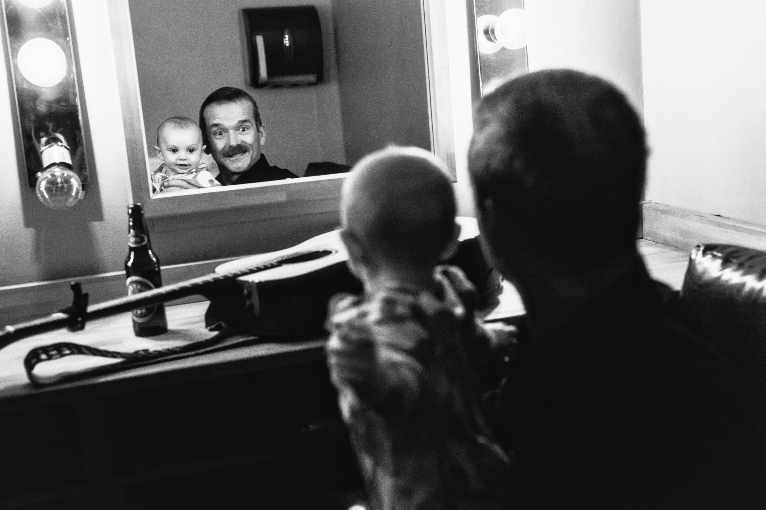 Canadian Astronaut and Musician Col. Chris Hadfield jokes with baby. (2017)