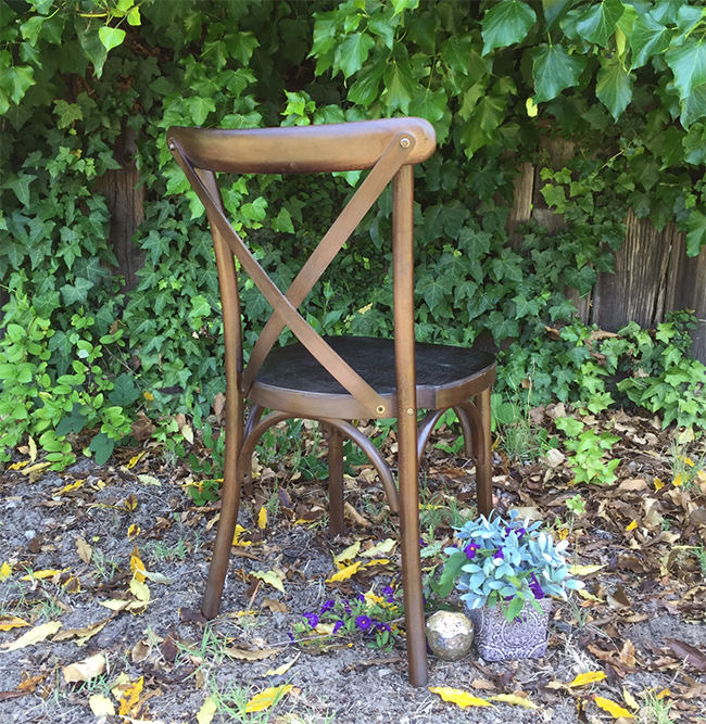 Cross Back Chair | View Point Rentals